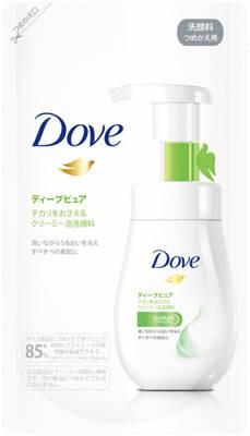 【在庫限り 限定特価】ユニリーバ・ジャパン ダヴ ディープピュア クリーミー泡洗顔料 つめかえ用 140ml