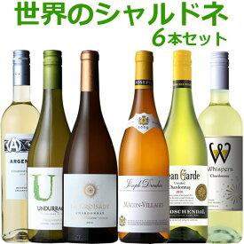 世界のシャルドネ 白ワイン 6本セット 【送料無料】750ml 新旧産地を飲み比べ 各750ml 辛口 フランスワイン チリ アルゼンチン 南アフリカ オーストラリア