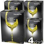 カサス・パトロナレス白3000ml4本【送料無料】白ワインミディアムボディチリBIBボックスワイン(紙パックワイン)カサスパトロナレス白ワインセット4本入り