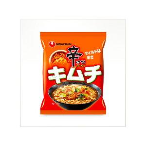 農心 辛ラーメン キムチ(袋)120g ×12個 /白菜キムチ /マイルドな辛さ /日本向け辛み