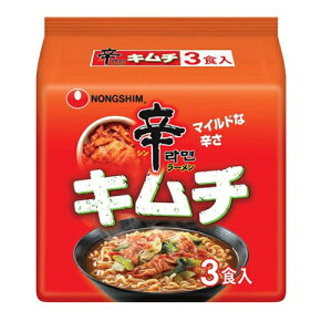 農心 辛ラーメン キムチ 袋麺 3袋入(120g×3袋)×12個 / 白菜キムチ / マイルドな辛さ / 日本向け辛み