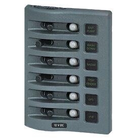 防水サーキットブレーカースイッチパネル 6連 LEDライト付き