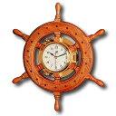 プラスチモ PLASTIMO クロック 時計 269C 舵輪   マリーン マリンクロック ボート 船舶 オーク材 真鍮 お洒落 オシャレ かっこいい 装…