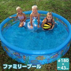 【送料無料】ビニールプール 丸型 | 水遊び 子供 ファミリープール 簡単 庭 プール デッキ カワイイ 家庭用 庭 ベランダ テラス 屋外 空気入れ 庭プール かわいい 子供用 子供 小さい 大きい 小型 大型 ビニール 180