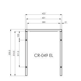 WEBASTO ベバスト 据置型 冷蔵庫 CR49用 取り付けフレーム   車中泊 キャンピングカー アウトドア