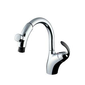 台付シングル混合水栓(タッチ、ハンドシャワー) TKN34PBTRR