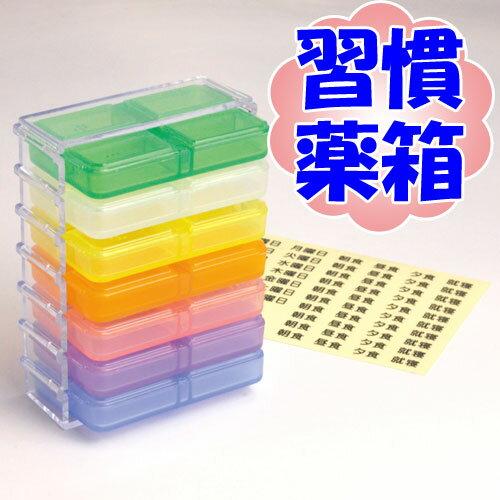 【習慣薬箱】薬入れ 薬ケース お薬 携帯用サプリメントケース ビルケース