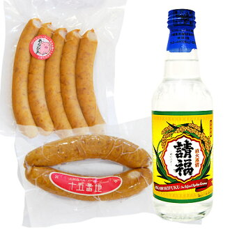Fire request Fu and easy sausage of pigs raised in awamori moromi set