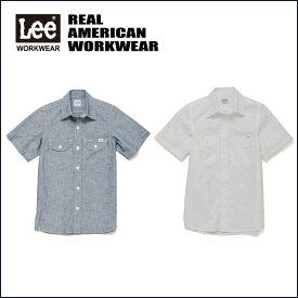 レディースシャンブレー半袖シャツ【LCS43005 Leeユニフォーム】LeeWORKWEARから、着心地の良いシャンブレー素材の半袖シャツ(作業用品)です。【コンビニ受取対応商品】