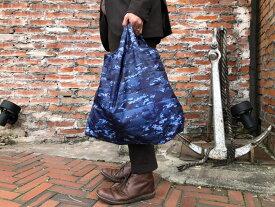 【 エコバッグ ( 海上自衛隊デジタル迷彩柄 )】 ショッピングバッグ 手提げ コンパクト 折りたたみ 軽量 大容量 シンプル 買い物 コンビニバッグ ネコポス可