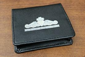 自衛隊 グッズ レザーコインケース ( 水上艦艇き章 ) 海上自衛隊グッズ 自衛隊グッズ 革 小銭入れ 財布 コインホルダー コインケース