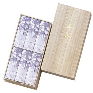 進物・贈答用線香 淡墨の桜 桐箱 箱型6箱入 日本香堂