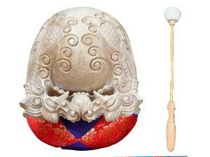 仏具 木魚セット 本楠龍彫り 8.0寸