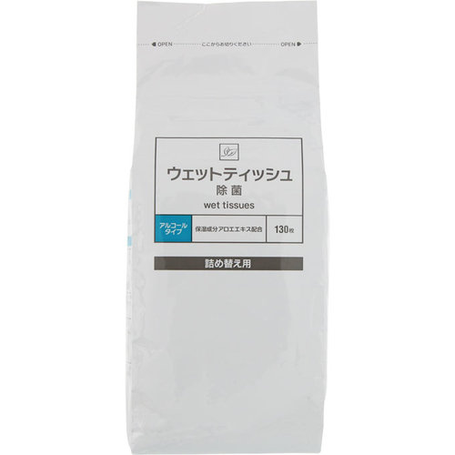 除菌ウェットティッシュ 詰替用 CF 130枚【3990円以上送料無料】