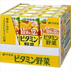 ※伊藤園 ビタミン野菜ハーフケース 200ml×12本【3980円以上送料無料】