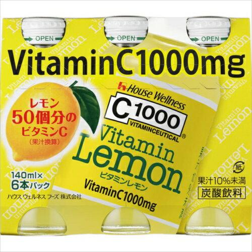C1000ビタミンレモン 140ml×6本パック【3990円以上送料無料】
