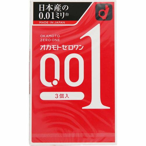 オカモトコンドームズ オカモト ゼロワン 0.01ミリ 3個入り【3990円以上送料無料】