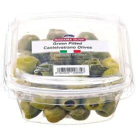 イタリア マダマ・オリヴァ シシリー産 グリーンオリーブ 種抜き 150g | 水・日出荷不可