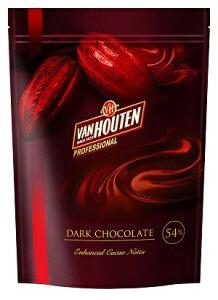 【バンホーテン】ダークチョコD54CI 1kg<クーベルチュール>