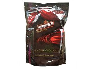【バンホーテン】エキストラダークチョコレート D70CI 1kg