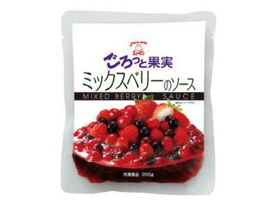【キューピー】スノーマン ごろっと果実 ミックスベリーのソース 200g