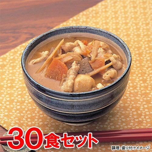 【送料無料】 【Miyajima】 【業務用】 豚汁 合わせみそ 30食(1ケース)セット (具だくさんとん汁!)【レトルト食品】【jo_62】 【ポイント10倍】