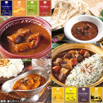 【送料無料】【業務用】MCC世界のカレー8食お試しセット【カレー食べ比べ福袋】(ジャワ、キーマ、タヒチ、マレーシアなど)【レトルト食品】