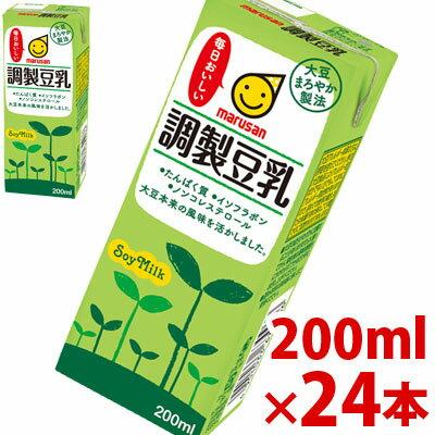 【只今ポイント10倍】マルサン 調製豆乳 200ml×24パック 【jo_62】【p10】(調整豆乳) 【ポイント10倍】
