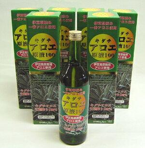 【送料無料】キダチアロエ原液100 6本セット(キダチアロエエキス)【jo_62】【ポイント5倍】