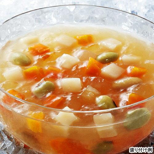 【冷たいスープ】具入りタイプ 【SSK】 シェフズリザーブ冷たい「野菜と豆を食べるコンソメジュレスープ」 1人前(160g) (冷製スープ) 【レトルト食品】【jo_62】【ポイント5倍】【p5_tabポイント5倍】