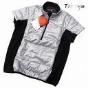 ゴルフウェア メンズ ベスト ハーフジップ 脇フリース 半袖 中綿入り 防寒 ゴルフ ベスト◆衣類に帯電した静電気を放…