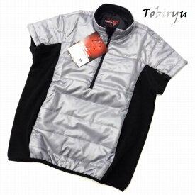 ゴルフウェア メンズ ベスト ハーフジップ 脇フリース 半袖 中綿入り 防寒 ゴルフ ベスト◆衣類に帯電した静電気を放電します。【特許出願中】54520W