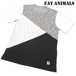 いっぱい いっぱい クジラ柄 左腰にネームタグを付属。FAT ANIMALS 切り替え Tシャツ メンズ 212-4804【おまかせ便で送料無料】tシャツ メンズ 半袖 ブランド 大きいサイズ スポーツ 3l 4l 大きい
