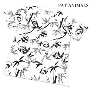 前も後も袖まで いっぱい パンダ柄 左腰にネームタグを付属。FAT ANIMALS 綿100% Tシャツ メンズ 大きいサイズ 212-4814【おまかせ便で送料無料】tシャツ メンズ 半袖 ブランド 大きいサイズ スポ