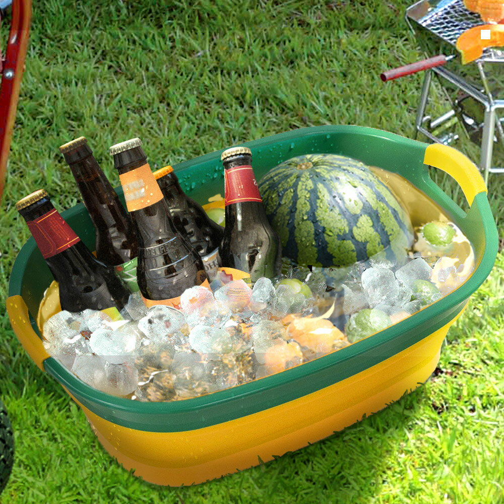 ソフトタブ ワイド | 湯桶 湯おけ たらい 折り畳み 折りたたみ 収納 やわらか アウトドア レジャー ペット フットバス 足湯 つけ洗い 洗い物 洗濯物 soft tub