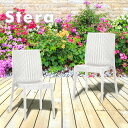 ラタン調 チェア Stera(ステラ) 2脚セット | ベランダ 庭 プラスチック 椅子 アンティーク ガーデンチェア セット ス…
