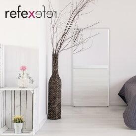 リフェクスミラー 80×150cm | 軽い フィルムミラー 姿見 スタンドミラー 木目調 シンプル 全身鏡 全身姿見 壁掛け 立て掛け かがみ くっきり 鮮明 キレイ 綺麗