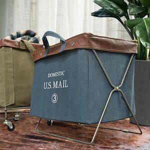 フォールディング バッグ U.S.MAIL | おしゃれ ランドリーバスケット 荷物置き 収納ボックス 洗濯かご ランドリーボックス バスケット 洗濯カゴ フォールディングバッグ かご ランドリー カゴ