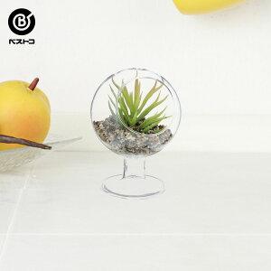 フェイク テラリウムグリーン グラス横ステム 2 | 観葉植物 壁掛け 壁かけ フェイク ミニ 人工観葉植物 造花 多肉植物 ガラス ガラス鉢 小さい インテリアグリーン おしゃれ プレゼント ギフ