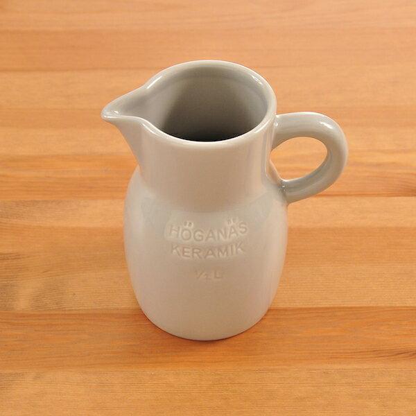 ロールストランド Rorstrand ホガナス・ケラミック ピッチャー 500ml ペブルグレー グロッシー Hogannas Keramik