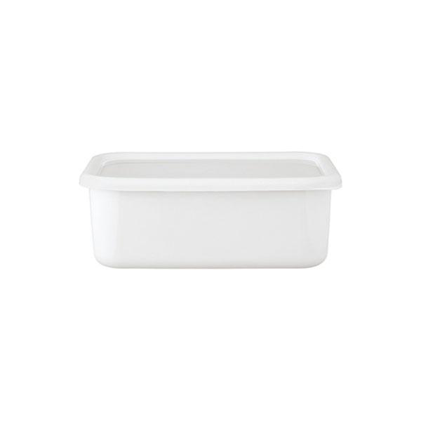 富士ホーロー FUJIHORO (コンテ) 深型角容器 KE-DLL・LW LL リリーホワイト