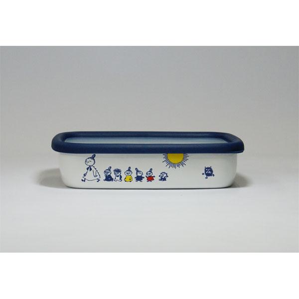 富士ホーロー FUJIHORO (ハニーウェア) ムーミン ポーセリンエナメル 浅型角容器 MT-M M