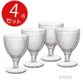 キントー ロゼット ワイングラス クリア 4点セット 割れにくい プラスティック製
