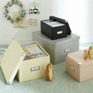P10倍6月20日まで 収納ボックス マジックボックス M (zacca)( フタ付き おしゃれ 折りたたみ 収納box かご 紙 クラフト 収納ケース DVD メディア 収納 )