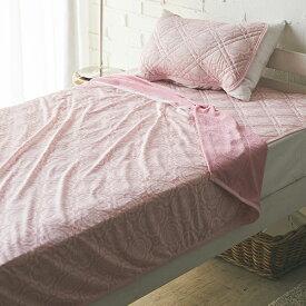 【送料無料】 ひんやり冷感 洗える寝具3点セット 敷きパッド クールタオルケット 枕パッド シングル モロッカン柄 【夏物寝具】