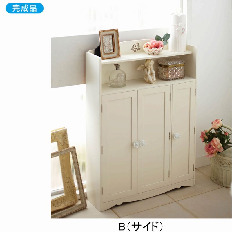 【送料無料】 トイレ収納ラックA1 B(サイド) (zacca) ★ 【直送】