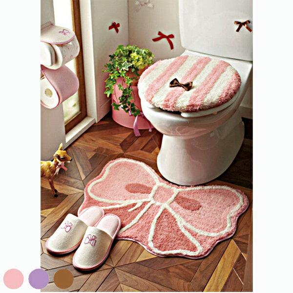 トイレ(マット) (zacca)( トイレ トイレ マット 姫系 リボン お揃い 大人 フェミニン かわいい )