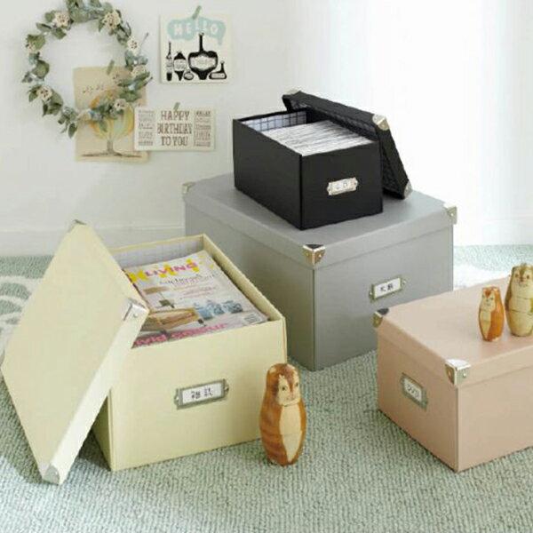 収納ボックス マジックボックス L (zacca)( フタ付き おしゃれ 折りたたみ 収納box かご 紙 クラフト 収納ケース A4 雑誌 本 収納 )