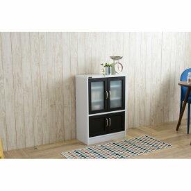 【送料無料】 食器棚UQ3 A(幅58cm/高さ82.5cm) (zacca)( カップボード キッチン 収納 キッチンボード キャビネット モダン 木製 ) 【直送】