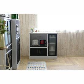 【送料無料】 食器棚UQ3 C(幅88cm/高さ82.5cm) (zacca)( カップボード キッチン 収納 キッチンボード キャビネット モダン 木製 ) 【直送】